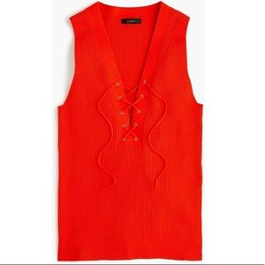 J. Crew Lace Up Sweater Tank Xxs